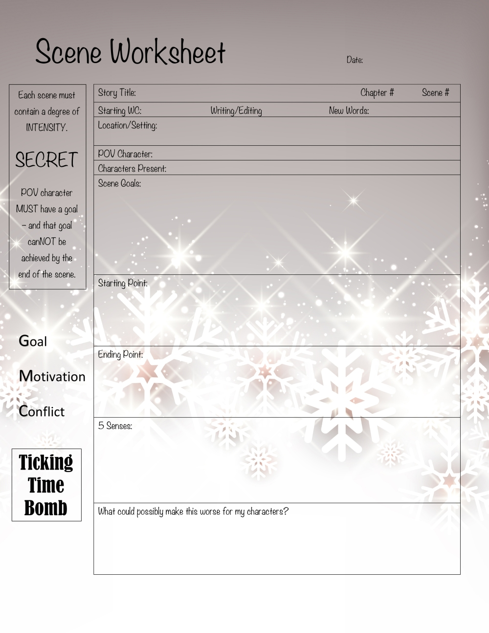 Microsoft Word - Scene Worksheet Snowflakes from Top.docx